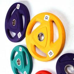 Цветные обрезиненные диски...
